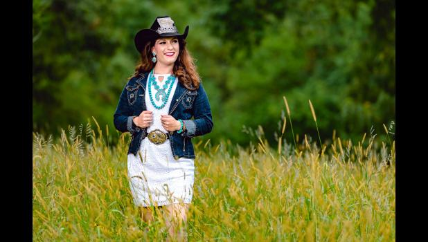 Brittany Gunn, of Jefferson, will spend 2020 as Miss Rodeo Iowa. Her travels will take her to Las Vegas next December for the Miss Rodeo America Pageant. CONTRIBUTED PHOTOS