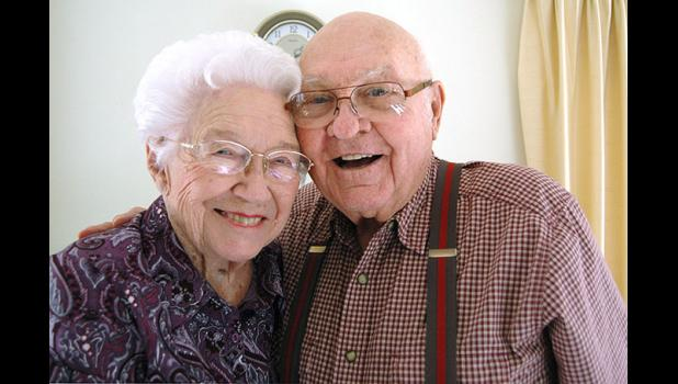 "Bob and Madeline Burnell celebrated 72 years of marriage last week. When asked if their marriage has ever hit any rough patches over the course of more than seven decades, Bob quipped, ""Nothing we can't holler out."" ANDREW McGINN 