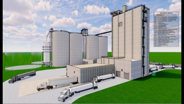 When finished, Cooper will be the site of NEW Cooperative's seventh feed mill.