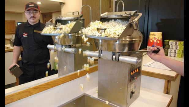 Dustin Gustoff, manager of the Sierra Community Theatre, said Classics Week in January will raise money for a new popcorn popper. Like all theaters, whether they have one screen or 20, concessions keep the business afloat. HERALD FILE PHOTO