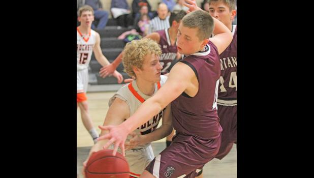 Paton-Churdan's Forest Thompson (left) should provide some size for a Rockets program hoping to improve on their five wins from a year ago.  BRANDON HURLEY   JEFFERSON HERALD
