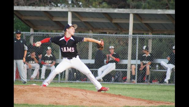 Tyler Beger was one of the Ram pitchers versus Southeast Valley on June 17. He also had one of Greene County six hits and was credited with an RBI in the team's 10-7 loss.
