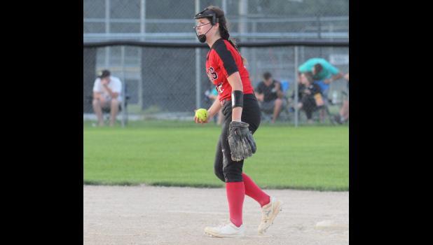 Greene County shortstop Jenna Beyers was named to the HOIC second team. BRANDON HURLEY | JEFFERSON HERALD