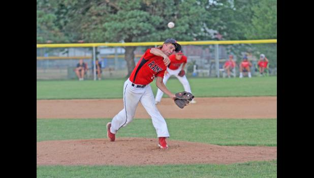 Greene County senior Tyler Teeples was named to the Heart of Iowa Conference second team after tying for the team-lead in total hits (17) and scoring a GCHS-high 10 runs. Teeples also started five games on the mound. JEFFERSON HERALD FILE PHOTO