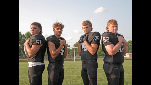 Pictured are the 2021 Greene County captains, from left: Bradyn Smith, Bryce Stalder, Jackson Morton and Mason Stream.  BRANDON HURLEY   JEFFERSON HERALD