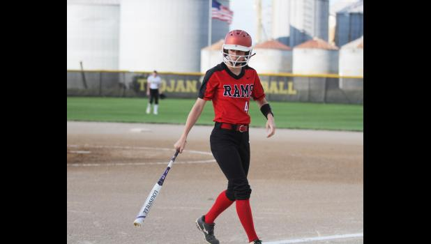 Greene County senior Megan Carey tallied more than 100 hits playing softball for the Rams over the last five years. She also earned several all-conference selections in volleyball and basketball playing for Paton-Churdan.  BRANDON HURLEY | JEFFERSON HERALD