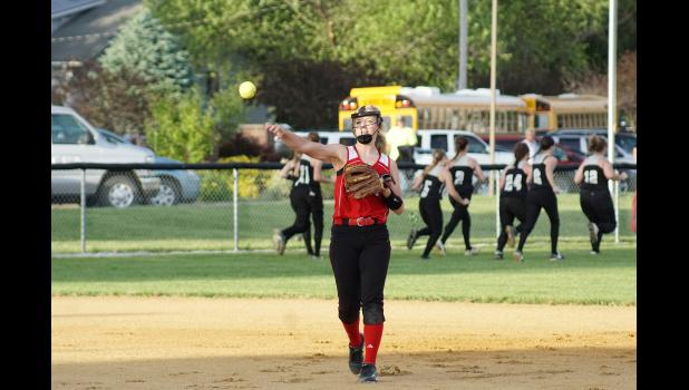 Greene County Class of 2015 graduate Emily Christensen tallied a remarkable 213 hits and 143 career RBI in addition to 56 total doubles during her playing days in Jefferson.  JEFFERSON HERALD FILE PHOTO