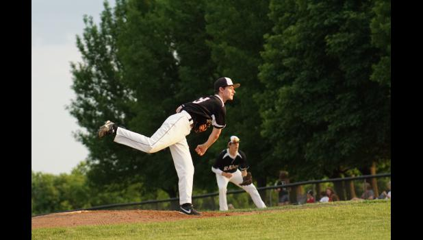 Colton Fitzpatrick was the winning pitcher in the Rams second victory over Colfax-Mingo this season.