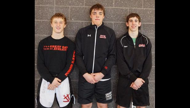 State Qualifiers (l. to r.) Jordan Challen, Hunter Ruth, Abe Yoder