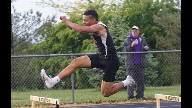 Daric Whipple sheared almost two seconds off of his previous PR in the 400 meter hurdles to qualify for the state track meet in Des Moines next week.
