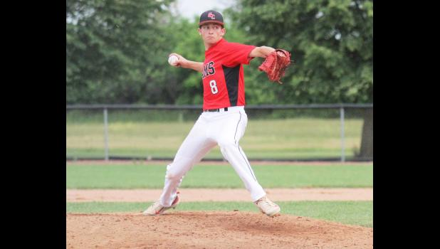 Greene County pitcher Austin Delp leads the Rams with 80 strikeouts (7th in 3A) and a ERA of 2.05. He's compiled 182 career strikeouts with one game left. BRANDON HURLEY | JEFFERSON HERALD
