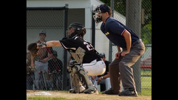 Senior Jordan Challen has been behind the plate for every varsity game this season, which is hard work considering that he handles every pitch that is thrown by the bevy of Ram pitchers.