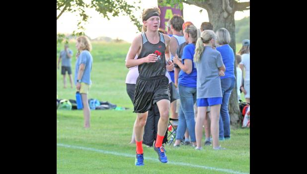 Greene County's Logan Woodruff, seen here at a meet last fall, finished fifth overall at the 2020 HOIC meet Monday, Oct. 12 in Saydel, securing himself first team honors.
