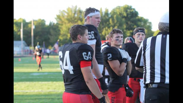 Greene County offensive tackle Tyler Miller (66) is a three-star verbal commit for the ISU Cyclones. He'll match up against another future D-I prospect, Kuemper's Blaise Gunnerson in a rare battle Oct. 4 in Jefferson.  BRANDON HURLEY | JEFFERSON HERALD