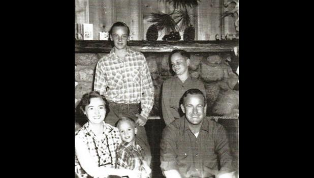 A Morlan family photo taken sometime in the 1940s or 1950s. Pictured are, from left, back: Tom Morlan, Donald Morlan. Front: Ada Davis Morlan (wife), Bruce Morlan (middle) and Lloyd Evan (Bill) Morlan, dad.