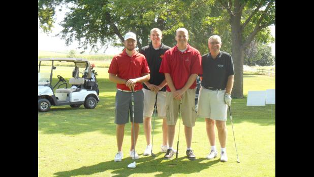 Chamber golf outing winners from Mumma Law Firm (l. to r.): Chris Nelson, Keith Pedersen, Adam Pedersen, Mike Mumma.