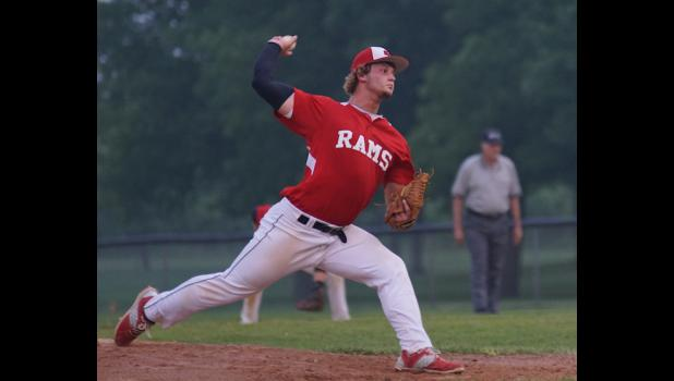 Riah Nelsen got his sixth win of the season when he pitched a shut out versus Saydel on July 6.