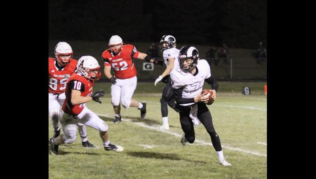 Greene County QB Brent Riley eclipsed the career 5,000 yard mark in the Rams' quarterfinal loss to Algona. He now sits at 5,013 yards, extending his Greene County record and becoming the school's first-ever 5,000 yard passer. He's also thrown for a school-record 57 career touchdowns.  BRANDON HURLEY | JEFFERSON HERALD