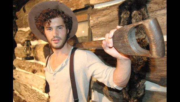 "Adam Dooley plays Clayton Monroe in History Boy Theatre Co.'s production of ""Golden Boy of the Blue Ridge."""