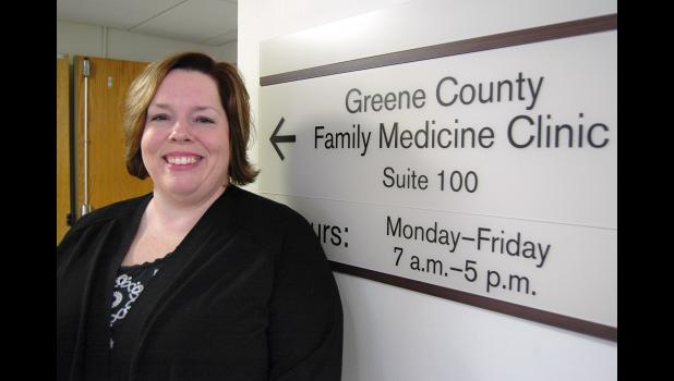 Heather Wilson begins seeing patients Monday as the Greene County Medical Center's first in-house behavioral health provider. The hire of Wilson, a psychiatric mental health nurse practitioner, helps fulfill a major need in the area. ANDREW McGINN   JEFFERSON HERALD