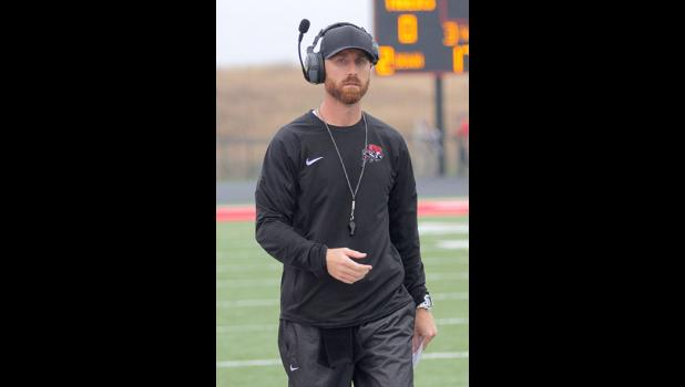 Greene County High School head football coach Mitch Moore strolls the sidelines. HERALD FILE PHOTO