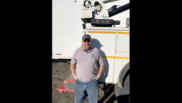 JERRY TIBBS | SPECIAL TO THE TIMES HERALD Scranton resident Kyle Thompson recently helped an injured semitrailer truck driver in Utah while Thompson was driving there for his work with Union Pacific.