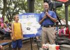 "John McLaughlin speaks as part of the ""KCCI Weather Kid"" feature at the Iowa State Fair in 2015. CONTRIBUTED PHOTO"