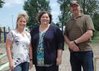 Councilwoman Julie McAleer (from left), city clerk/treasurer Melinda Hinners and Winkelman are among those giving Scranton a jolt of energy. They're taking the downtrodden former school playground and turning it into a new city park with new equipment (below). Residents are invited to submit a name for the yet-to-be-named park by June 30.