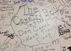 Jefferson's Don and the Country Bells left their mark on the backstage wall of the legendary Surf Ballroom in 1993. I'm happy to report it's still there.