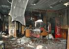 Debris covers the floor at Pizza Ranch in Jefferson following a fire in January. HERALD FILE PHOTO