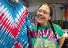 """I liked the bright colors. I liked the music. I like being nice to people,"" says Crystal Dudley, a late-stage Deadhead who recently found she has a knack for making tie-dye clothing. Dudley has been turning out one brightly psychedelic shirt after another in her garage on South Olive Street in Jefferson. She sells her wares at the Greene County Farmers' Market. ANDREW McGINN 