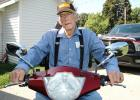 Travelin' man: Wendell Lindahl, 91, has provoked the ire of police for taking his electric mobility scooter to congregate meals. The scooter is his only means of transportation. ANDREW McGINN | JEFFERSON HERALD
