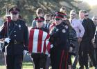 Urbandale police officers were casket bearers for their fallen fellow officer Justin Martin on Tuesday in his hometown of Rockwell City. JARED STRONG | JEFFERSON HERALD