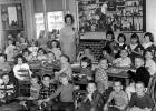 Vivian Autenreith is pictured with one of her many elementary classes in Jefferson. (Take note of the mechanical Santa Claus display still in the school district's possession.) A member of the Jefferson High School Class of 1932, Autenreith taught from 1948 to 1977. Before her death in 1991, Autenreith created a trust in honor of her only son, Rory. Its assets were distributed recently to the Greene County Community Center and the Greene County Medical Center.