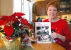 Jefferson resident Pauline Irwin has been writing a yearly Christmas letter since 1960. She recently collected all 57 years of letters into a book for her family. When Irwin began writing her yearly Christmas letter, the price of a stamp was 4 cents. Today it's 49 cents. ANDREW McGINN | JEFFERSON HERALD