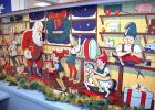 The elementary school's mechanical Santa Claus display is available for the public to see this holiday season in the Masonic window on the west side of the Square. The beloved display has mesmerized local kids for generations, but is finally reflecting the wear and tear of the years. One or two of Santa's elves will periodically stop moving.