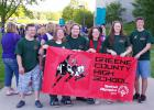 Greene County Special Olympians at the state special olympics competition in Ames. (l. to .r.) Kourtlin Thacker, Kim Stanek, Makayla Murray, Melissa Rice, Rylie Breheny, Cole DeHoet.