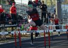 Eme Johnson run the anchor leg on the Rams winning shuttle hurdle relay team at the Ram Relays on Apr. 20. Johnson also won the 100 and 400 meter hurdle events.