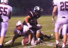 Ram linebacker Joe Doran gets up after dropping Creston's Seth Maitlen late in the game. Doran led Greene County in tackles with four solo and six assists.