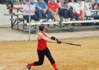 Junior Kayla Mobley takes a big cut in Greene County's victory over South Hamilton.on June 27. Mobley ripped two doubles and a single to help the Rams offensive effort.