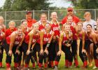 A happy Ram softball team poses after their 14-2 upset of Sergeant Bluff-Luton