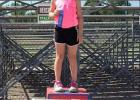 Olivia Shannon won the 9-10 girls long jump competition at the Hershey State Track Meet in Marshalltown. Olivia is the daughter of Karen and Allen Shannon of Jefferson.